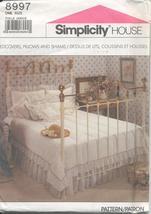 Simplicity 8997 Bedcovers Pillows Shams Comforter Bed Throw  - $9.02