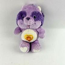 Bright Heart Raccoon Care Bears Cousins Kenner Stuffed Animal 1984 Vintage  - $24.99