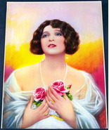 Fancy lady with roses art print 001 thumbtall