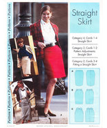 UNCUT WOMEN'S CLOTHING SEWING PATTERN STRAIGHT SKIRT 14/22 - $3.50