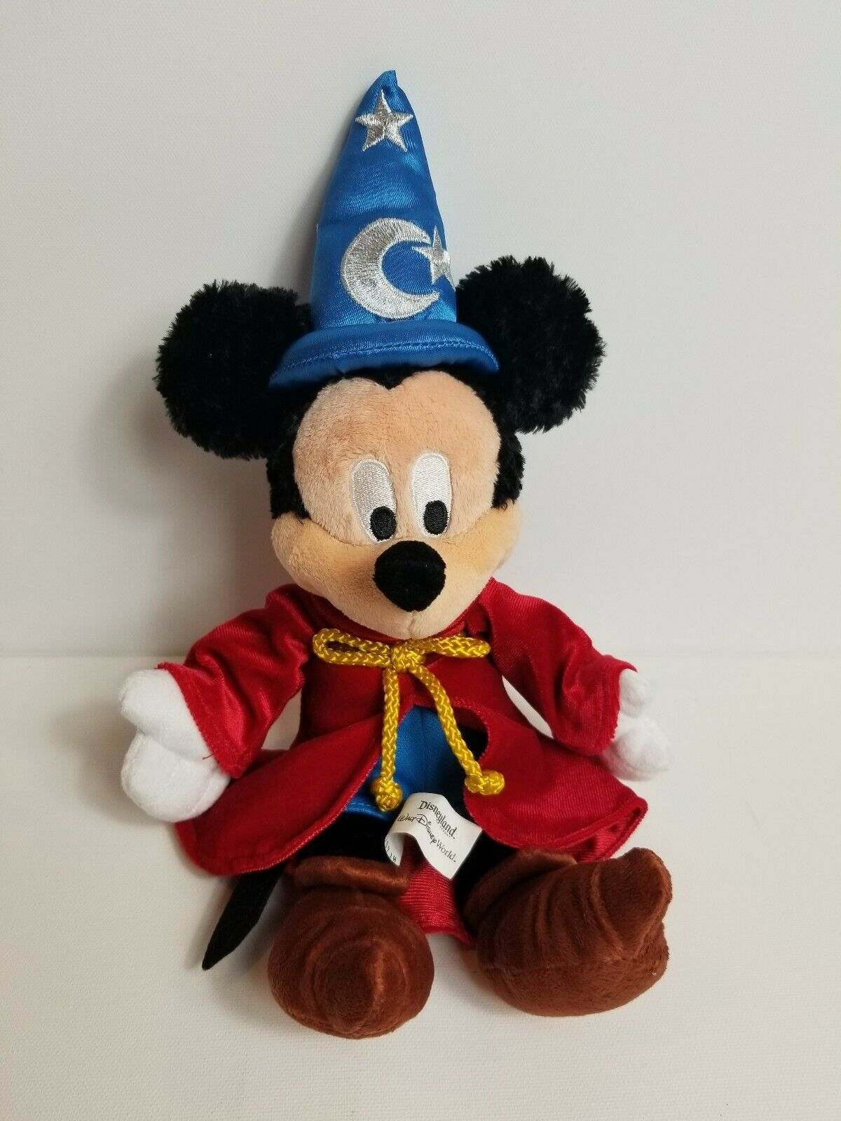 "Primary image for Disneyland Disney World Fantasia Mickey Mouse Plush Wizard 14"" Soft Stuffed Toy"