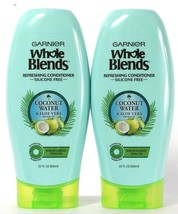 2 Ct Garnier 22 Oz Whole Blends Coconut Water Aloe Vera No Silicone Conditioner - $30.99