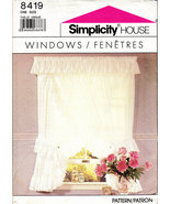 UNCUT SEWING PATTERN SIMPLICITY 8419 WINDOWS CURTAINS - $3.50