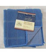 Home Collections Microfiber Scrubbers 2 Pk (Blue) - $6.44