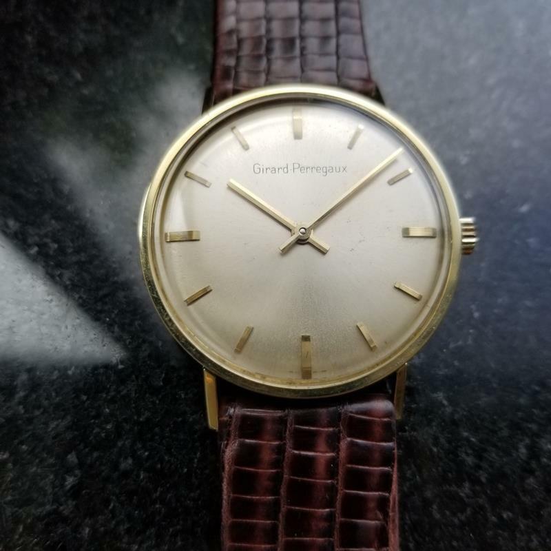 GIRARD-PERREGAUX Gold-Capped Men's Manual Hand-Wind Dress Watch c.1960s MS212 image 3