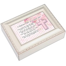 Cottage Garden Baptismal Prayer Girl Ivory Music Box/Jewelry Box Plays A... - $61.72