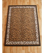 Leopard Print Area Rug with Leopard Print Border 8ft. x 11ft. - $99.00