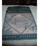 VINTAGE SHIKIBUTON JAPANESE FOLDING BED PATTERN POPPY 1980 Shiki-Buton s... - $10.97