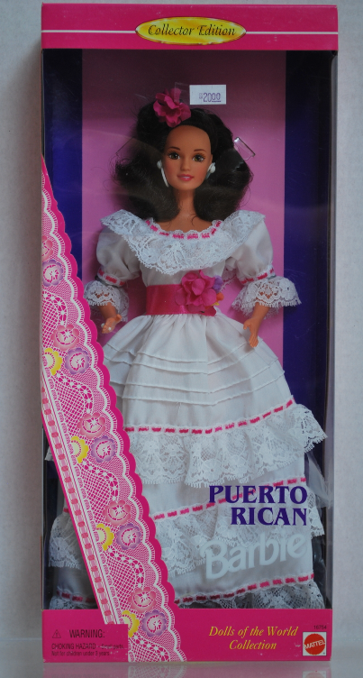 Puerto Rican Barbie (Collector Edition) Dolls of the World #16754 NRFB c1996