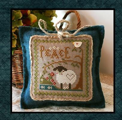 Peace Sheep Virtues 2013 Series #3 cross stitch chart Little House Needleworks