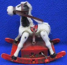 ENESCO Musical Rocking Horse Figurine Figure Hand Crank Music Box Yankee... - $18.76