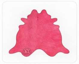 Solid Dyed Hot Pink Natural Brazilian Cowhide Rug - $449.00