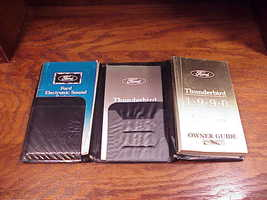 1990 Ford Thunderbird Owner's Manuals, Guides, with cloth covered organizer - $14.95