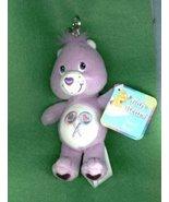 PURPLE SHARE CARE BEAR KEY CHAIN WITH LOLLIPOPS - $10.00