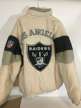 Textopia Jacket Los Angeles Raiders Puffer Men's Sz XL Stitched Wool NFL Patch - $280.25