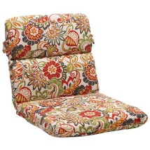 Pillow Perfect Indoor/Outdoor Multicolored Floral Chair Round Cushion - £36.21 GBP