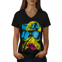 Ibiza Gala Longa Holiday Shirt Live Music Women V-Neck T-shirt - $12.99+