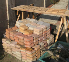 """12 Paver Molds Make 100s of 6x6x1.5"""" Castle Cobble Stones for Pennies. FAST SHIP image 8"""