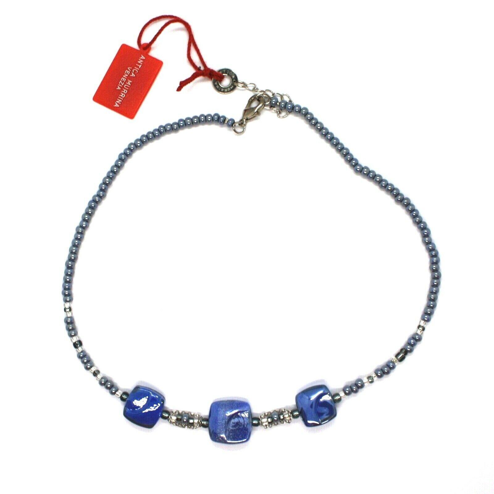 Necklace Antique Murrina Corner CO990A06 with Murano Glass Blue Choker