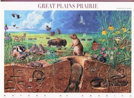 Nature In America USPS Stamps Sheet MNH Scott 3506 Great Plains Prairie ... - $9.87