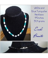 White and Blue Turquoise Necklace - New! - $25.00