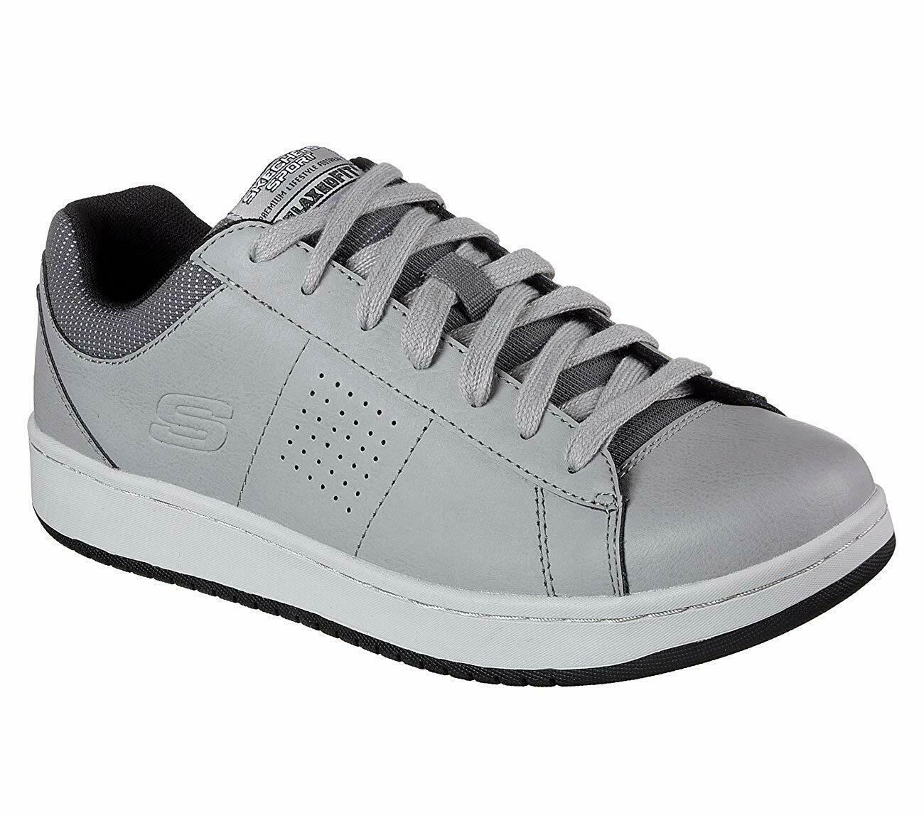 SKECHERS MEN'S TEDDER TURRET SNEAKERS GRAY 52712