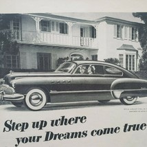 1949 Buick Print Ad Step Up Where Dreams Come True - $13.49