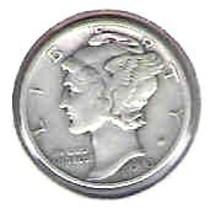 Nice 1943 P Mercury Dime - $4.00