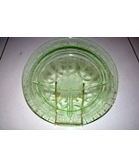 Anchor Hocking 1934 Cameo Ballerina Green 3 Section  Grill Plate - $9.89