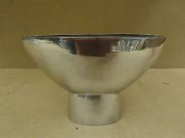 Designer Flower Pot 12in L x 7 1/2in H x 4in D Shiny Chrome Modern Metal - $23.95