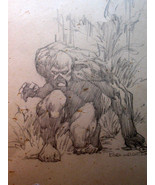 BERNIE WRIGHTSON (SWAMP THING) ORIG,FULL FIGURE ARTWORK FROM THE 70,S - $3,465.00