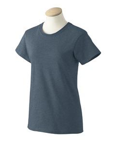 Iris Blue XS G2000L Gildan Ladies ultra cotton T-shirts azul