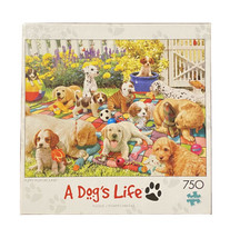 Buffalo PUPPY PLAYGROUND A DOG'S LIFE  750 piece Puzzle Complete Excelle... - $12.77