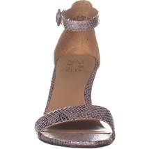 naturalizer Kinsley Ankle Strap Sandals, Silver Snake, 9 US / 39 EU - $33.59
