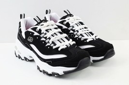 Womens Skechers D'Lites Biggest Fan Sneakers - Black/White Size 7 [11930... - $54.99
