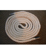 Old Vintage or Used Long Thick Rope White Nautical Barn Home Decor Boat ... - $29.99