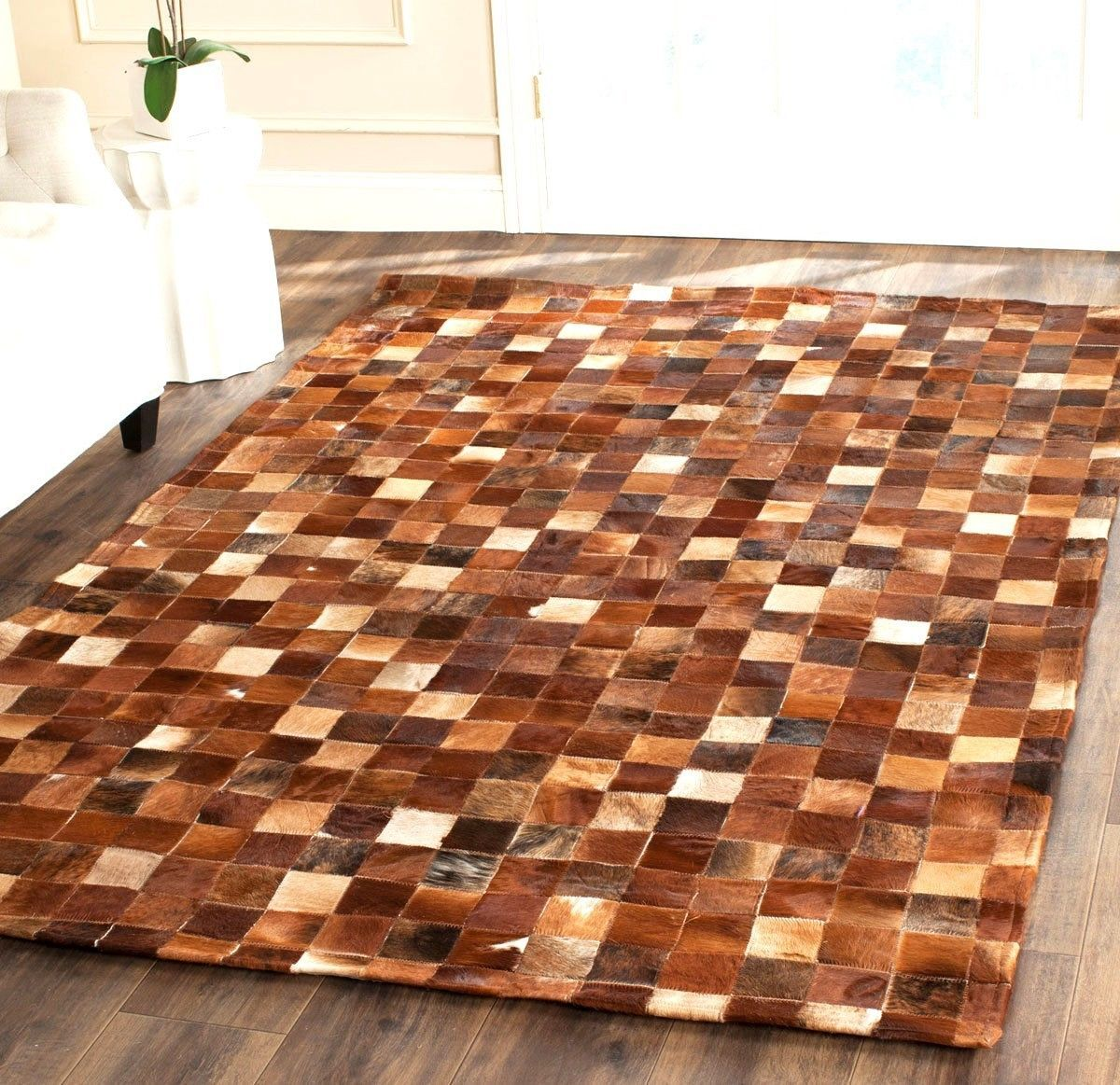 Primary image for Safavieh Hand-woven Studio Leather Cowhide Brown Rug 4' x 6'  STL517B4