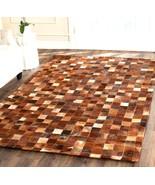 Safavieh Hand-woven Studio Leather Cowhide Brown Rug 4' x 6'  STL517B4 - $233.64