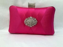 wedding clutch, formal clutch, Hot pink clutch, evening bag, bridesmaid ... - $42.58