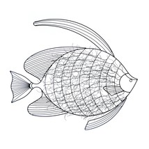 Art Wall Decor, Display Decorative Metal Intricate Fish Wall Decor,  Iron - $93.69