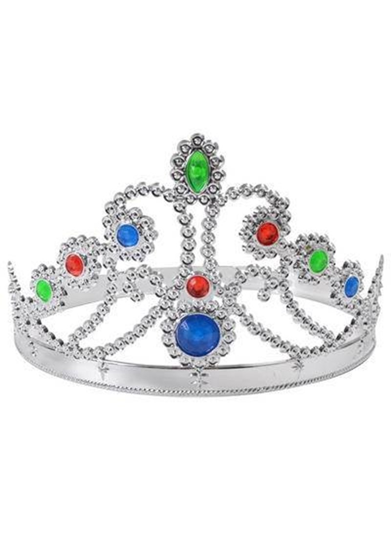 Silver Tiara, Queen's Crown, Princess, Fancy Dress Prop