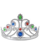 Silver Tiara, Queen's Crown, Princess, Fancy Dress Prop - £2.62 GBP