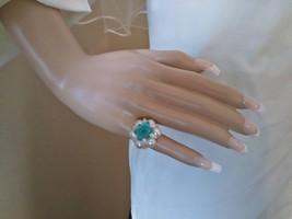Ladies Vintage 60's Acrylic Faux Pearl Beaded Something Blue Aqua Bridal... - $8.49