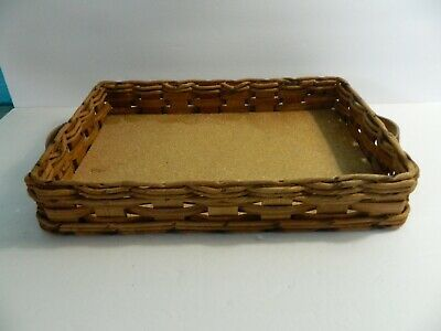 Vintage Pyrex Wicker Wood Long Casserole Dish Holder Cradle Fits 232