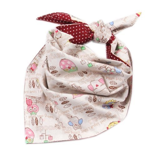 Owl Toddle Infant Burp Cloths Double Layer Bibs Nest Solutions Burgundy Set of 2