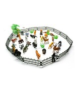 Small Animals Simulation Zoo 32pcs/set Containing Solid Fence Animals Mo... - $18.89