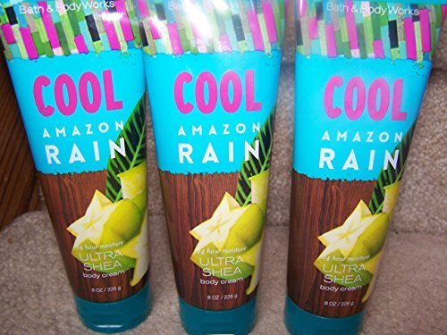 Lot of 3 Bath & Body Works Signature Collection Cool Amazon Rain 24Hour Moisture