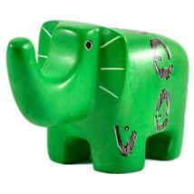 SMOLArt Hand Carved Soapstone Green Elephant Figurine Made in Kenya image 5