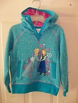 Disney Store Anna and Elsa Pullover Sweatshirt Hoodie for Girls Size 4 N... - $21.06