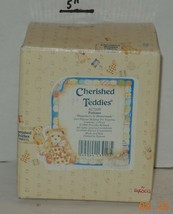 """Cherished Teddies PATIENCE """"HAPPINESS IS HOMEMADE"""" 1994 #617105 By Enesco - $24.75"""